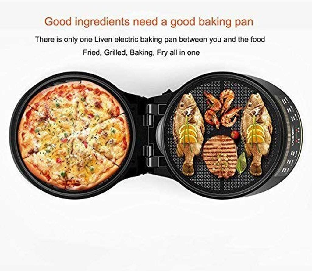 ZLDGYG Electric Baking Pan Cake Machine Household Double-Sided Heating Pancake Pan Cake Machine Frying Machine Pancake Pan Pizza Machine Deepening Cake