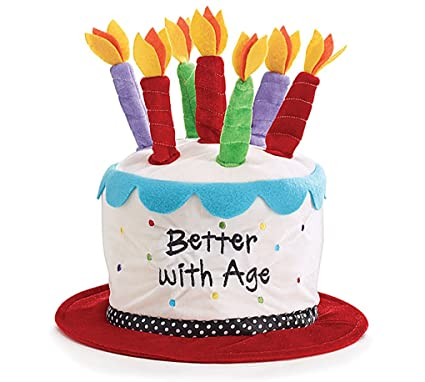 Amazon.com: Adultos Tamaño torta de cumpleaños sombrero ...