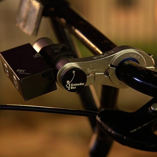 Silver Volo Extenseur de guidon de v/élo Cyclisme extension support de lampe support avec support en aluminium pour support pour v/élo phares appareils photo GPS Service