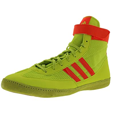 775618fce750fa adidas Combat Speed 4 Youth Wrestling Shoes Solar Yellow Solar Red Size 1.5
