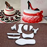 Mercurry 9Pcs High-Heeled Shoes Fondant Cake Mold Cutter Sugarcraft Mold Decorating Tools
