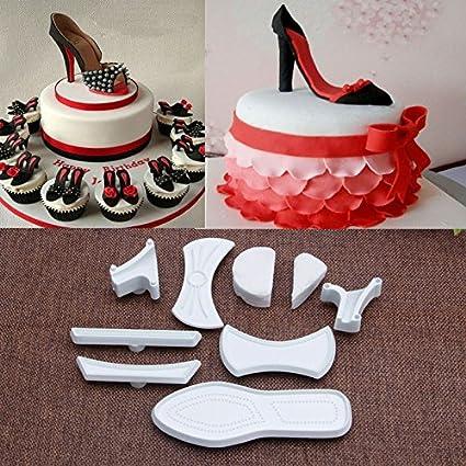 Amazon Mercurry 9Pcs High Heeled Shoes Fondant Cake Mold Cutter