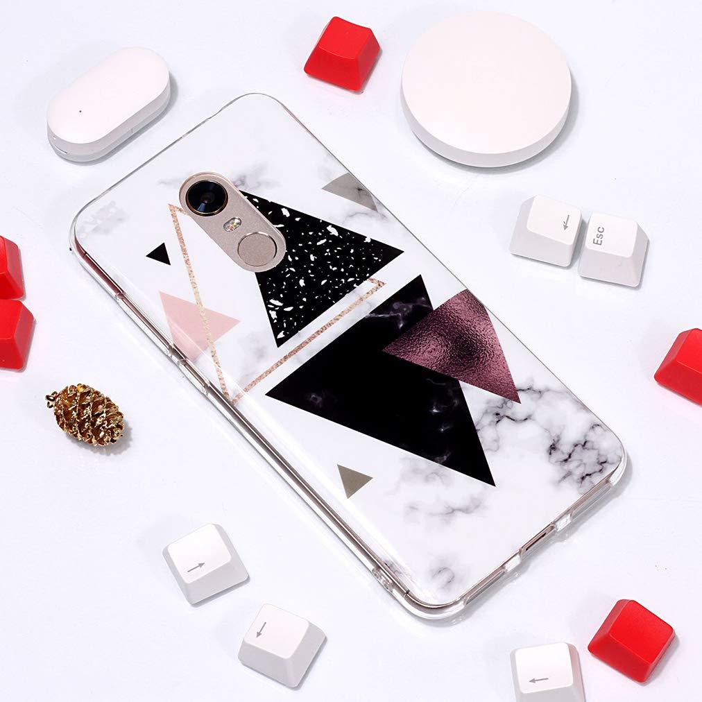 Tranquilamente Elegante Ronger Carcasa TPU Silicona Marble Case Cover Moda de Ciencia Ficci/ón Ultra Flexible con Patr/ón de Piedra Funda M/ármol para Xiaomi Redmi 5 Plus//Note 5