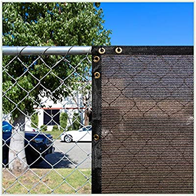 Colourtree 3 X 10 Brown Fence Privacy Screen Windscreen Cover Fabric Shade Tarp Netting Mesh Cloth Commercial Grade 170 Gsm 3 Years Warranty We Make Custom Size