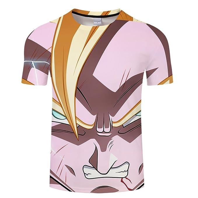 Cool Cartoon 3D Print T-Shirt Summer Casual Streetwear Saiyan Dragon Ball Z