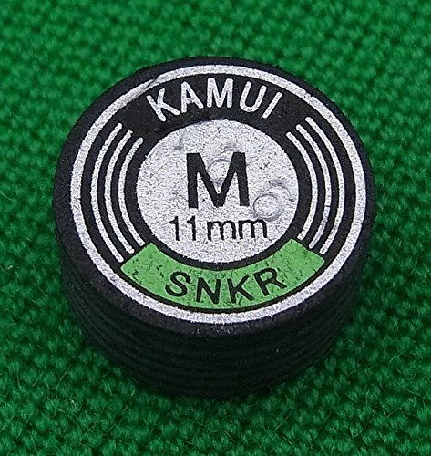 Kamui Black 11mm Snooker Cue Tip Medium (M) Hardness Layered Pigskin Leather Pool Cue Stick Tip