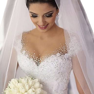Lovelybride Romantic Cap Sleeve Appliques Beaded Wedding Ball Gown Dress