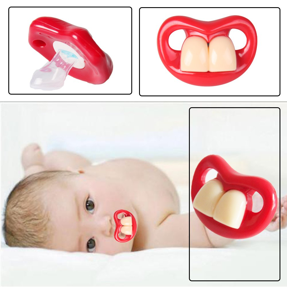 1 Pcs Newborns Baby Pacifiers Safety Soft Silicone Bite Gags Pacifier Care HK