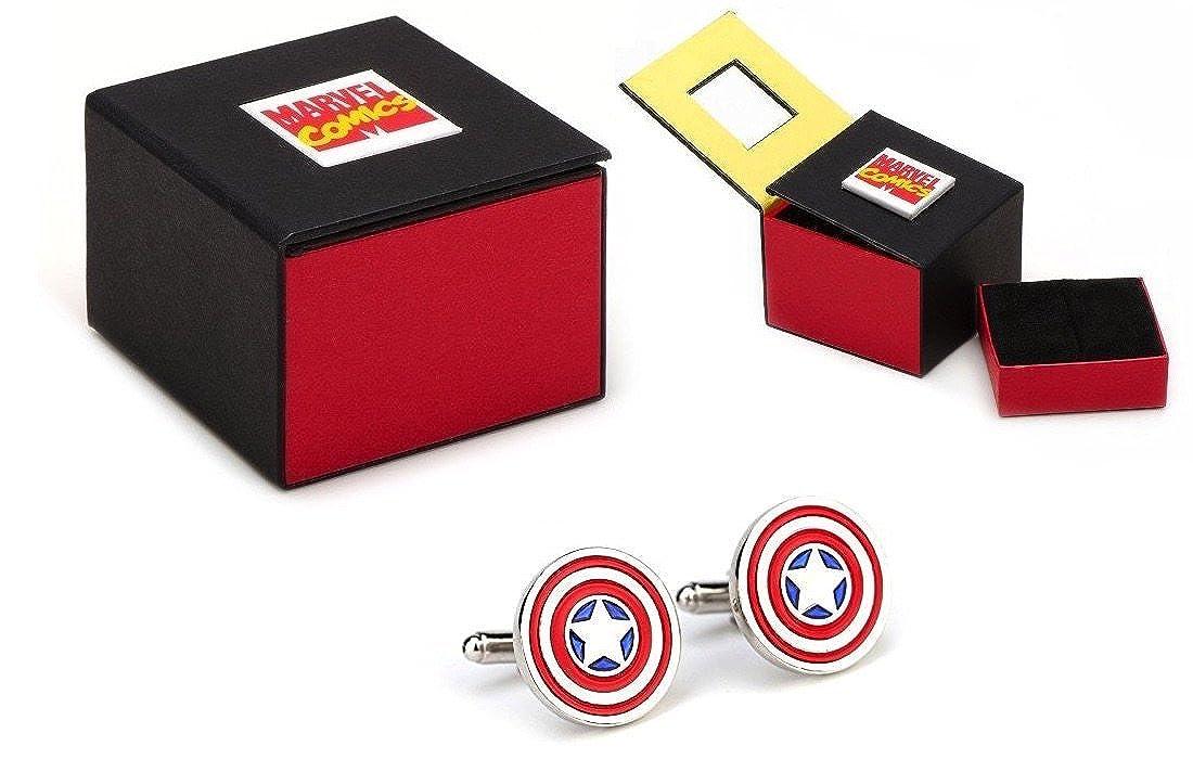 Marvel Captain America Shield Farbe Manschettenknöpfe MB-210047