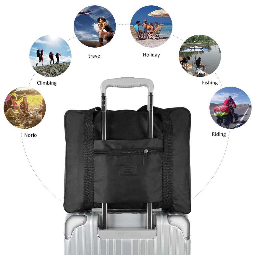 Simpleness Foldable Travel Bag BLUE Storage Carry Luggage Duffle Tote Bag