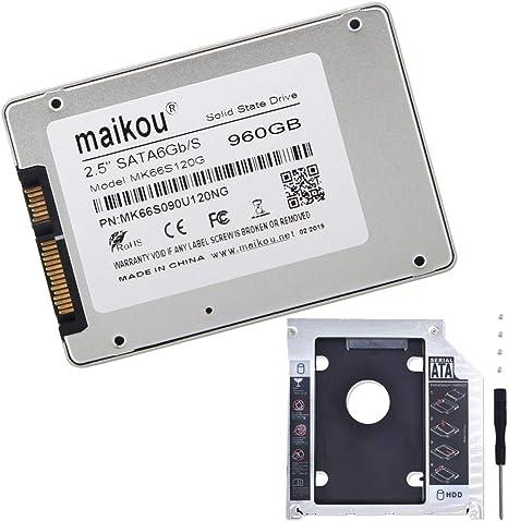 F Fityle SSD 2.5 Pulgadas Disco Duro SGB3 de 960GB para PC + ...