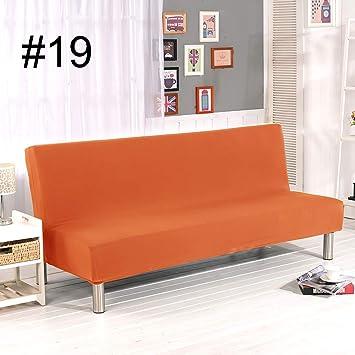 YIDADIAN Funda de sofá sin Brazo Color sólido Elástico Equipado Plegable sofá Cama Funda sin reposabrazos Protector de Muebles Máquina Lavable