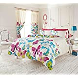 Luxury duvet cover sets Modern printed polycotton new (Butterfly Multi, Double Duvet Set) by Gaveno Cavailia