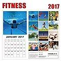 2017 Fitness Calendar - 12 x 12 Wall Calendar - 210 Free Reminder Stickers