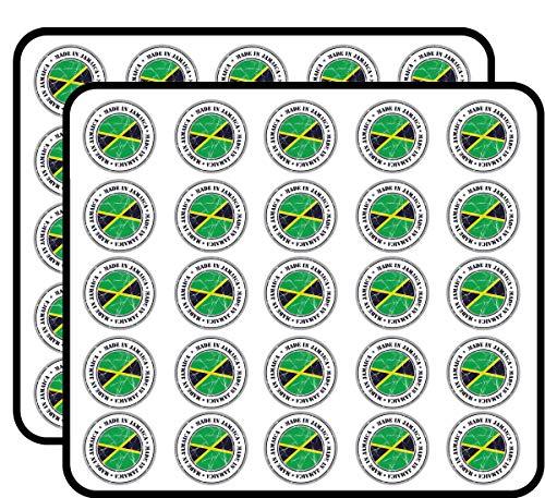 Made in Jamaica Grunge Flag Stamp Art Decor Sticker for Scrapbooking, Calendars, Arts, Kids DIY Crafts, Album, Bullet Journals 50 Pack
