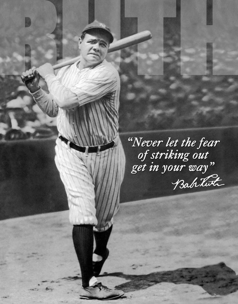 Poster di latta Tin Sign Babe Ruth No Fear