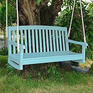Chelsea Porch Swing In Sky Blue Finish Amazon Ca Patio