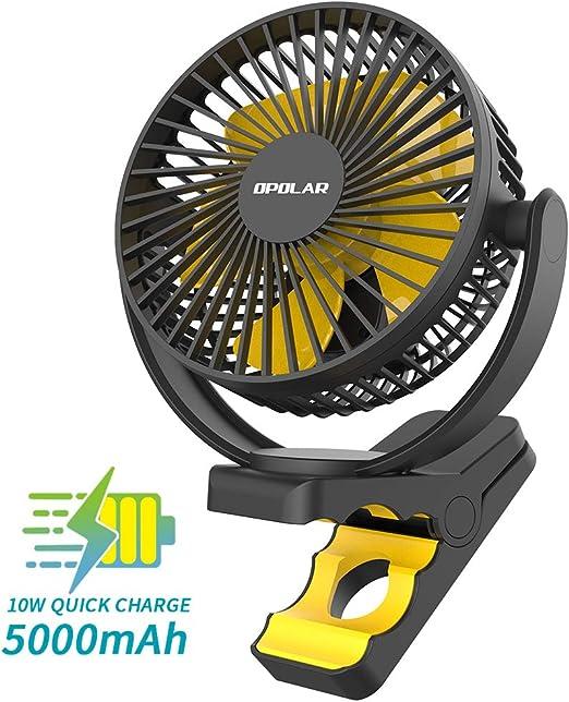 OPOLAR 5000mAh Clip Recargable en el Ventilador, actualización de ...