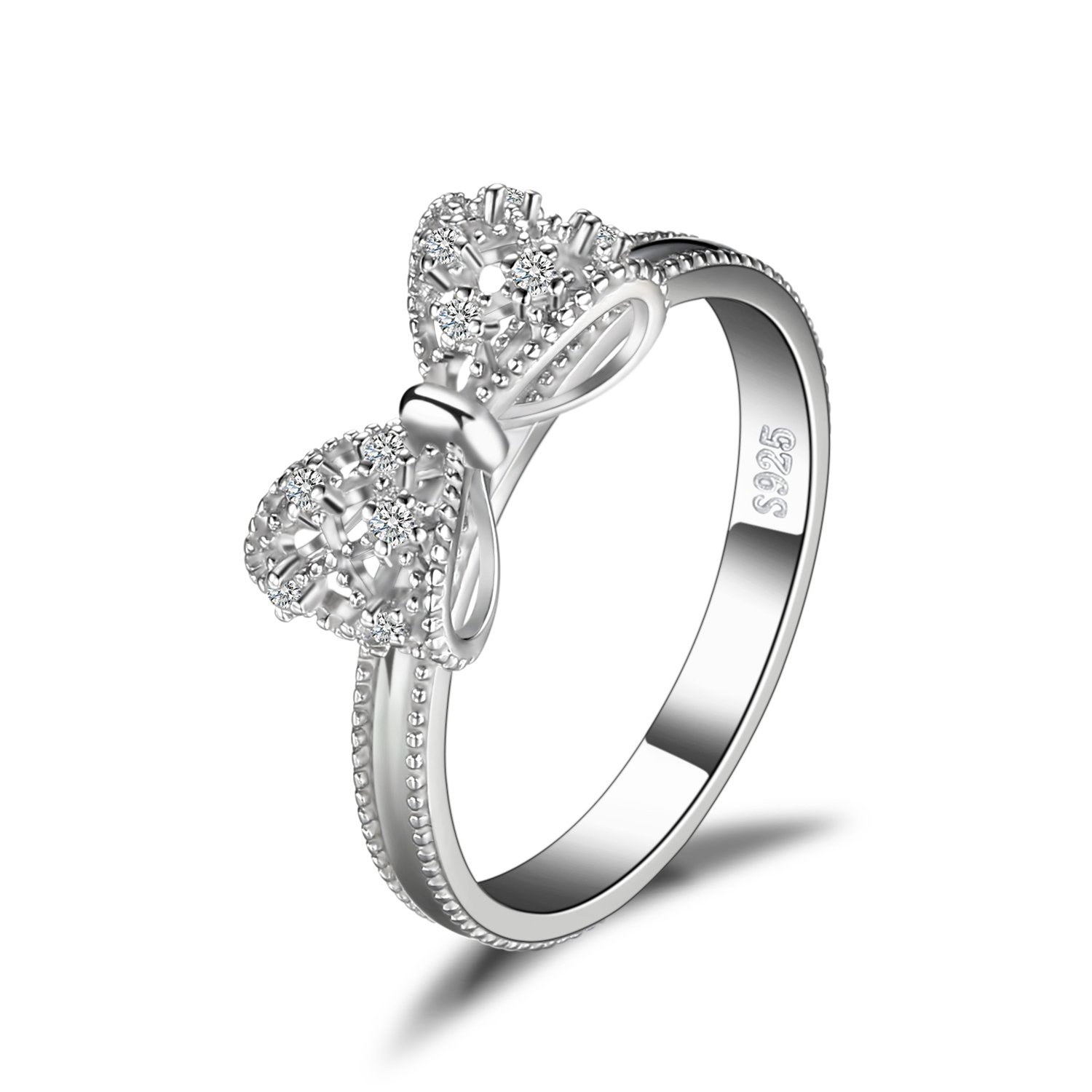 JewelryPalace Cubic Zirconia Anniversary Wedding Ring 925 Sterling Silver Size 6