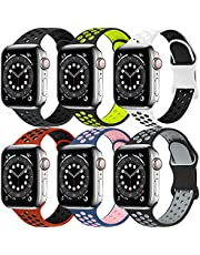Funeng Compatible with for Apple Watch Band 38mm 40mm 42mm 44mm Women Men, Soft Silicone Replacement Bands Strap Compatible with for iWatch SE Series 6, Series 5, Series 4, Series 3, Series 2, Series 1