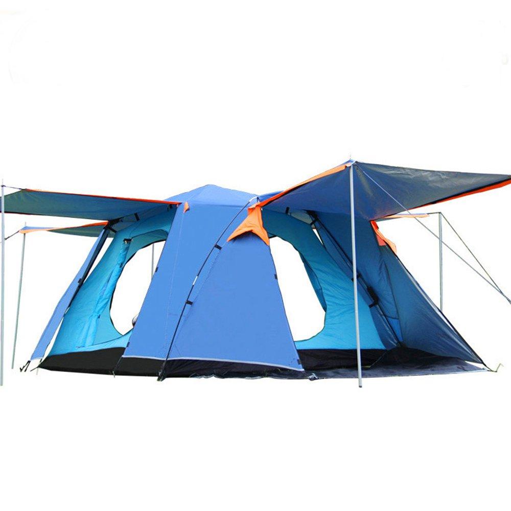 ワンタッチテント テント 3~4人用 設営簡単 紫外線防止 防水 通気性 アウトドア ブルー   B0753GQCPT
