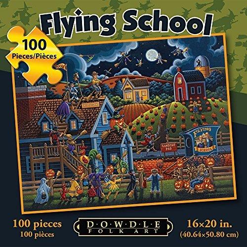 Dowdle Folk Art Flying School 100pc 16x20 Puzzles by Dowdle Folk Art