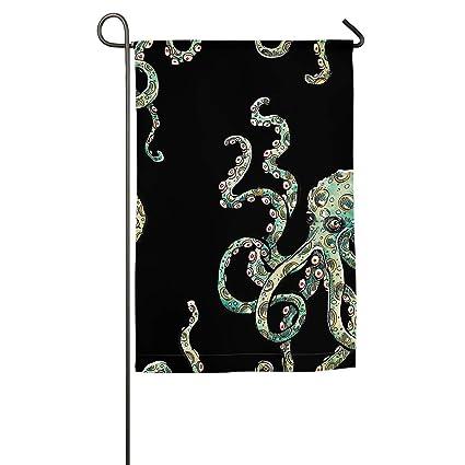 Christmas In Octopus Garden >> Amazon Com Lnc 01p Funny Octopus Garden Flag Outdoor Yard Flag