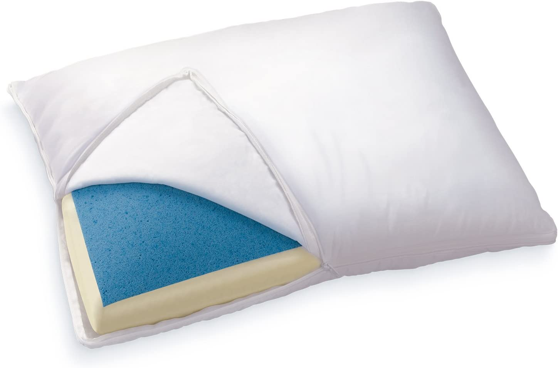 Queen King Hot Bamboo Pillow Memory Foam Hypoallergenic Cool Comfort MG