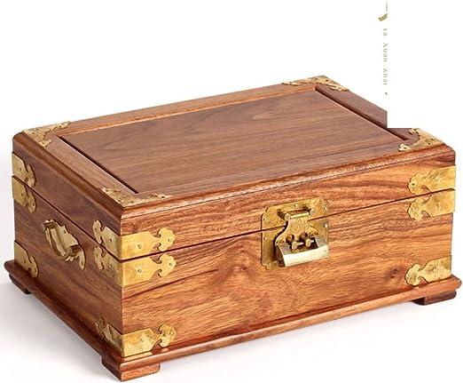 Caja de joyería de rosewood palo de rosa Dos niveles madera ...