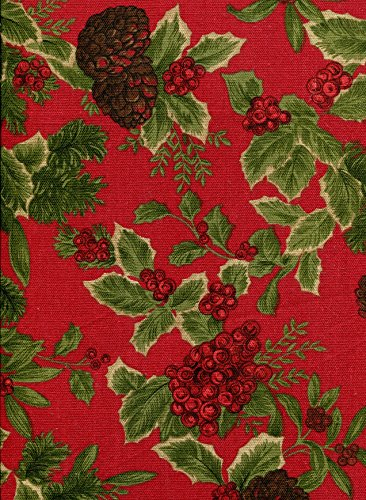 Ralph Lauren Birchmont Red on Red Background Tablecloth, 60-