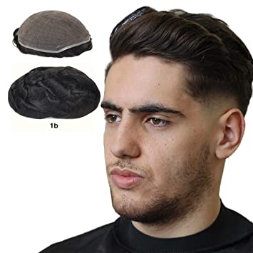 Human Hair Toupee for Men 8x10 Inch Full
