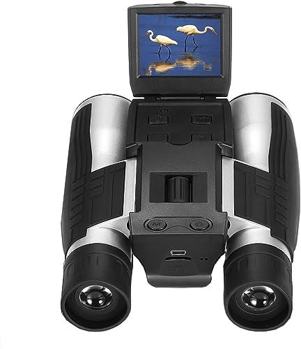 Vazussk 2 HD Digital Binoculars Camera 12×32 5MP Video Photo Recorder for Bird Watching Football Game with 16GB TF Card