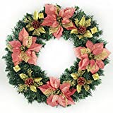 40cm Christmas Tree Decorated Christmas Wreath Ornaments Arcades Hotel Christmas Decorations (red)