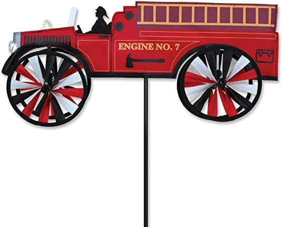 Amazon.com: 21 en. Fire Truck Spinner: Jardín y Exteriores