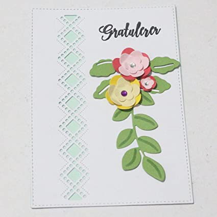Flowers Cutting Dies Stencil DIY Scrapbooking Embossing Album Paper Card Craft