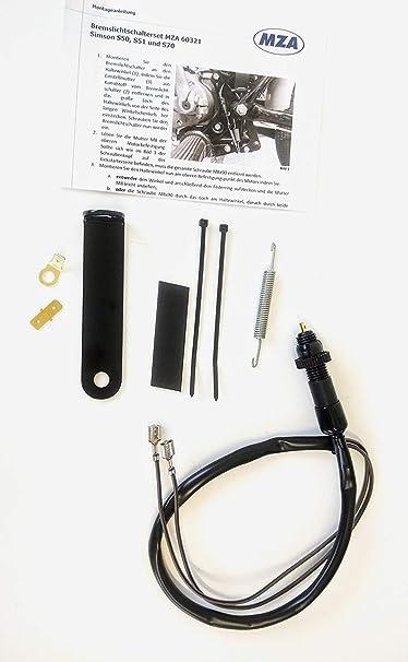Umrüstsatz Auf Wartungsfreien Bremslichtschalter Schwarz Inkl Kleinteile Für Simson S50 S51 S70 Auto