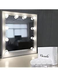 Vanity lighting fixtures amazon kitchen bath fixtures chende hollywood style led vanity mirror lights kit with dimmable light bulbs lighting fixture strip aloadofball Images