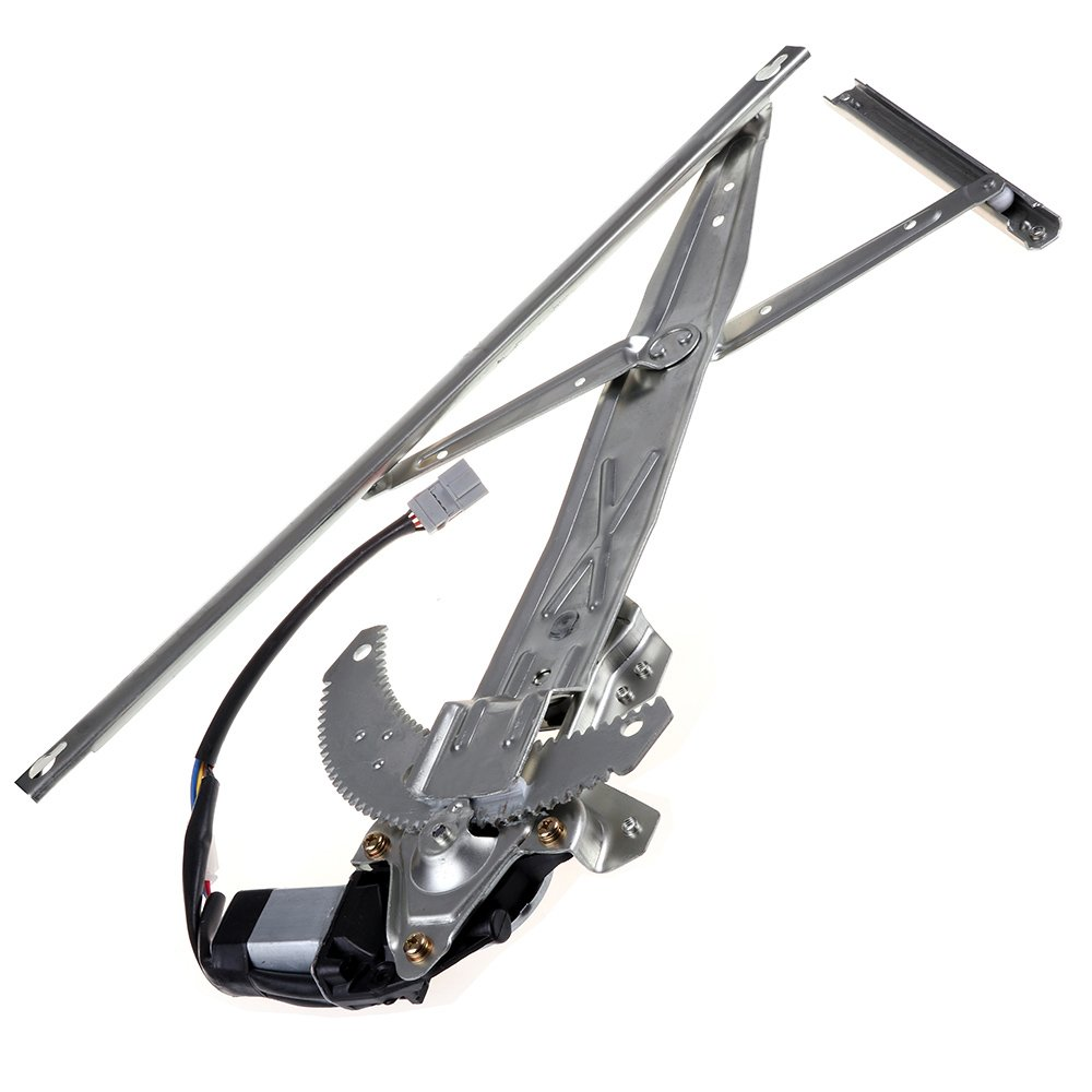 Power Window Lift Regulator on Front Left Drivers Side with Motor Assembly Replacement for 1998-2002 Honda Accord 2 Door 72251S82A01 72255S82A01