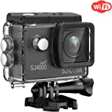 Sport Action Camera,SJCAM SJ4000 Wifi Waterproof Underwater Camera,12MP 1080P 30M Camera with Waterproof Case & Accessories Included (Black)