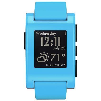 Amazon.com: Pebble Smartwatch para el iPhone y Android (Fly ...