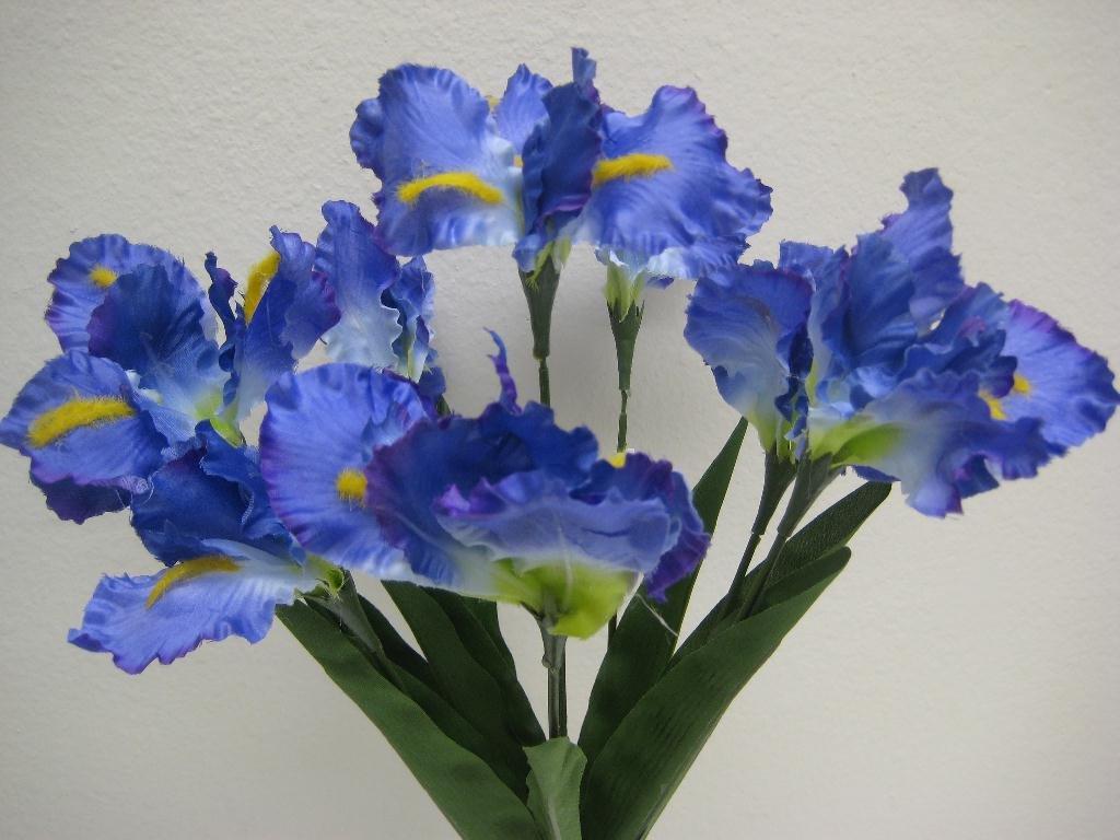 Amazon Phoenix Silk Iris Bush Satin 8 Artificial Flowers 22