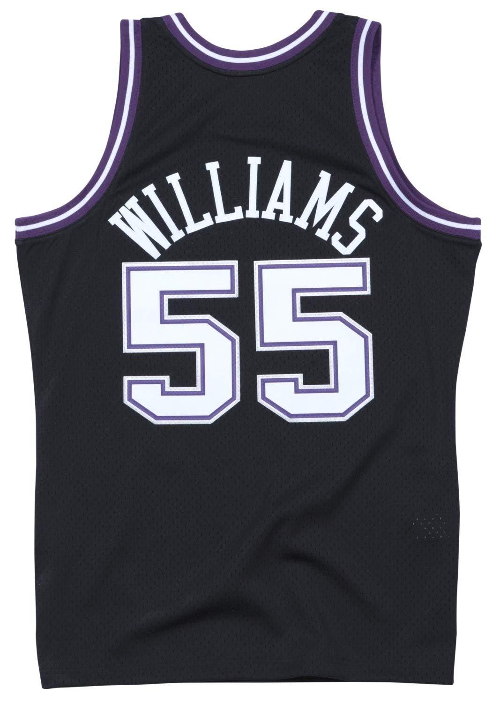 00fa3a81b59 Amazon.com   Jason Williams Sacremento Kings Mitchell and Ness Men s Black  Throwback Jesey   Sports   Outdoors