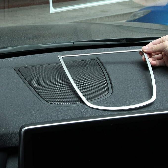 Carbon Fiber Center Dashboard Speaker Frame Cover Trim For BMW X5 X6 F15 14-17
