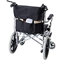 Mochila para silla de ruedas, bolsa grande negra