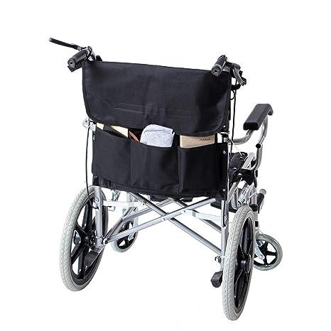Mochila para silla de ruedas, bolsa grande negra para silla ...