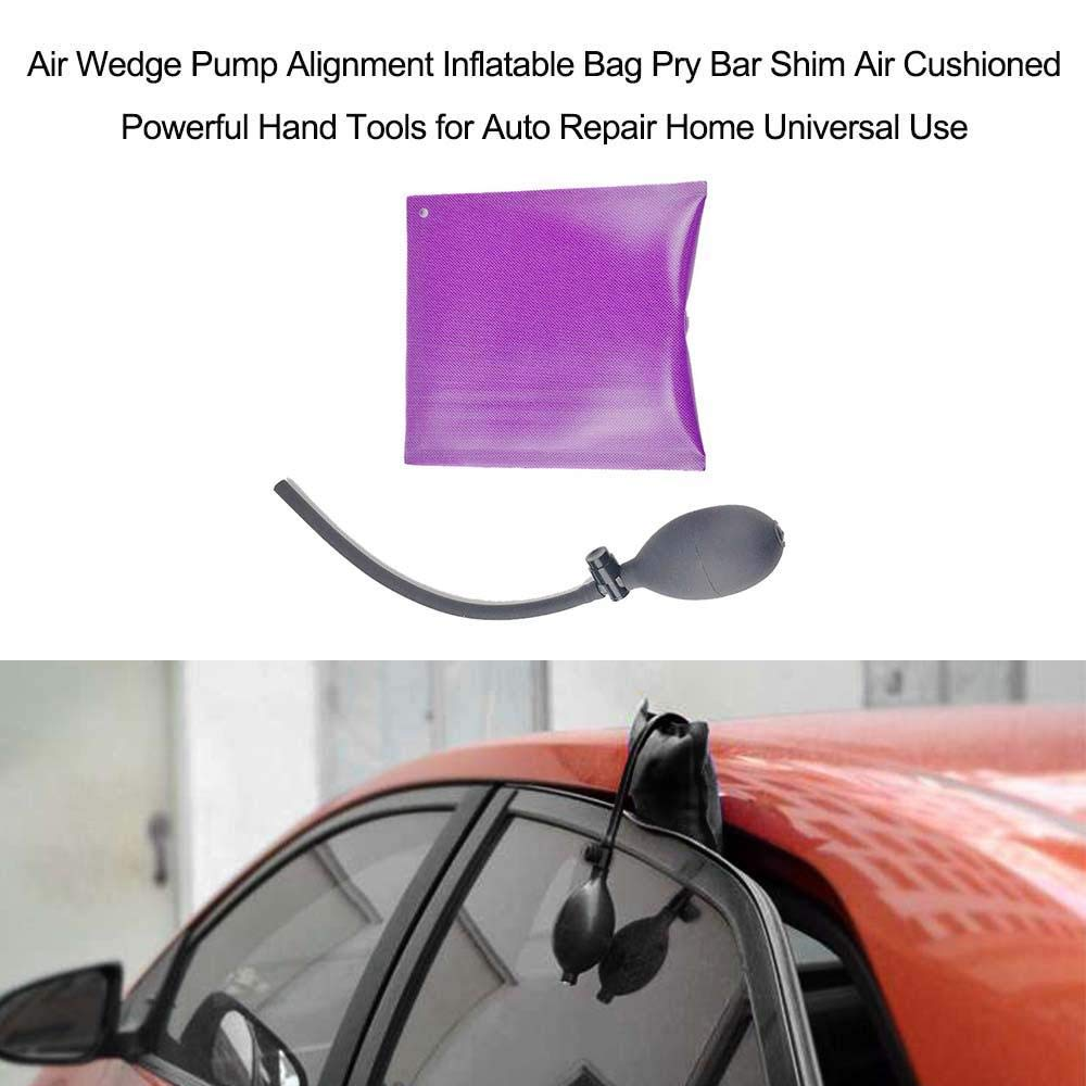 Universal Rubber Inflatable Shim,Super Load Bearing Household Commercial Vehicle Air Pump FOONEE Door And Window Air Wedge Air Pipe Hand Ball Three-Piece Air Cushion