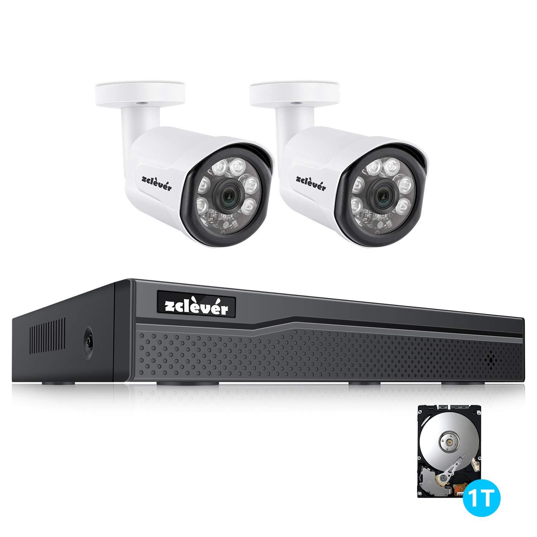POEカメラ 200万画素 2台 セット 4CH+2CAMS+1TB Zclever スマホPC対応 防犯カメラ レコーダー(4チャンネル対応 POE 増設可能) 屋内/屋外 暗視撮影 監視カメラ ネットワークカメラ 動体検知録画 cctv 遠隔監視 スマホPC対応 IP66 防水カメラ 防水防塵 1TBハードディスク内蔵「PSE認証」 POE 4CH+2CAMS+1TB B07GJ62K2X, アシキタグン:132dce83 --- krianta.ru