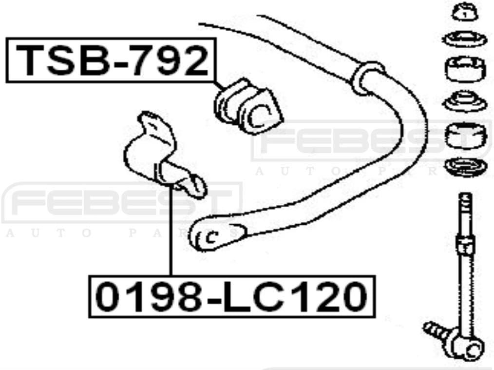 FEBEST TSB-792 Rear Stabilizer Bushing