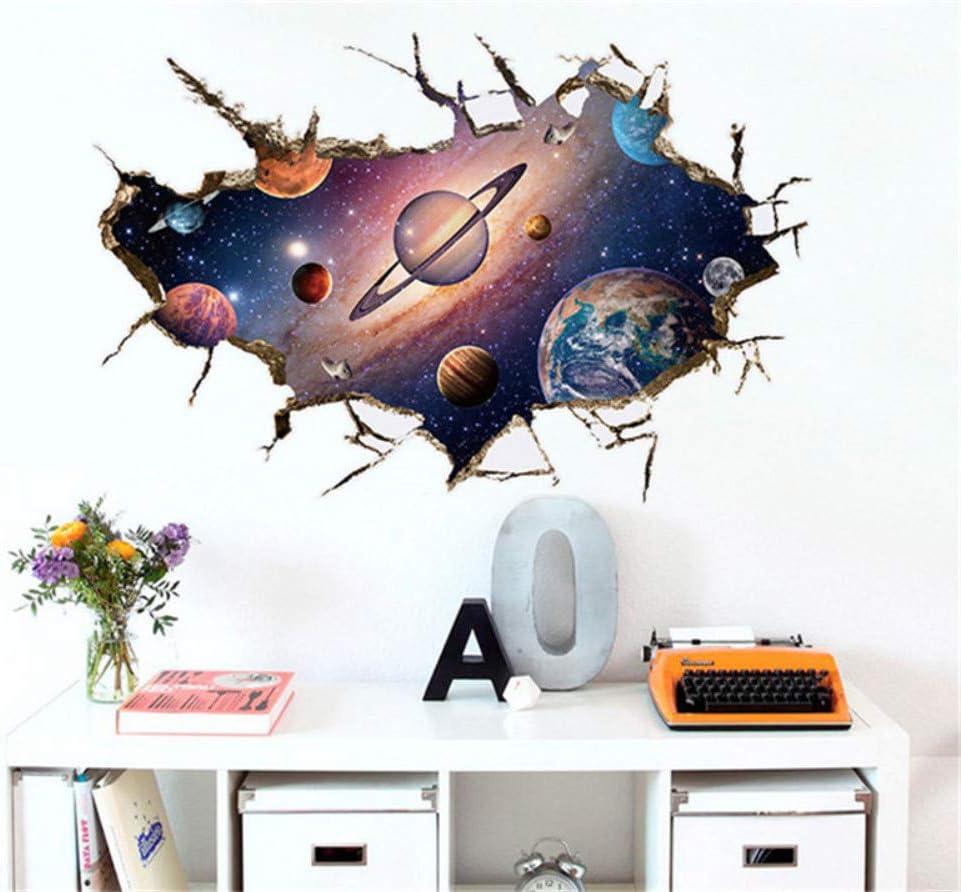 Sistema Solar 3D Rompiendo Pegatinas De Pared Para Niños ...