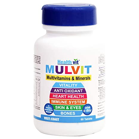 11f950279923 Buy Healthvit Mulvit A To Z Multivitamins and Minerals- 60 Tablets ...